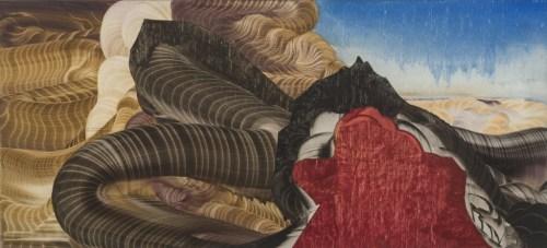 """Elliott Green - """"Tail Eater,"""" 2017, Oil on linen, 14 x 32 inches"""