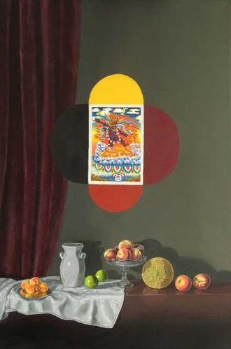 """Lynn Talbot - """"Demon Destroyer,"""" 2008, Oil on Linen, 24 x 16 inches"""