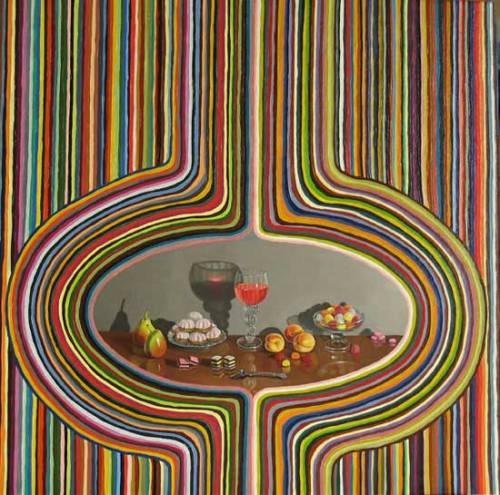 "Lynn Talbot - ""Permanent Illusion,"" 2008, Oil on Linen, 18 x 18 inches"