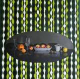 "Lynn Talbot - ""Still Life with Green Stripes,"" 2008, Oil on Linen, 18 x 18 inches"