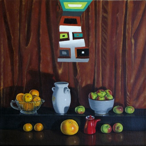 Collection - 2011, Oil on linen, 14 x 14 inches