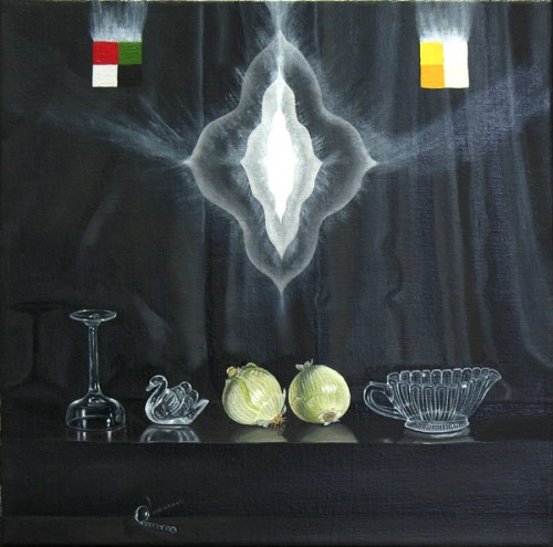 Ghost Among the Living - 2011, oil on linen, 12 x 12 inches