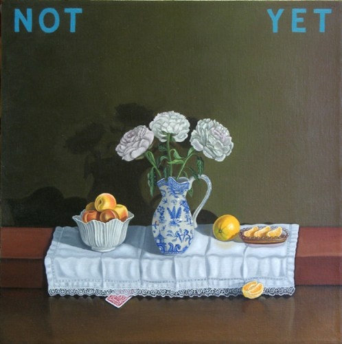 Not Yet - 2010, oil on linen, 15 x 15 inches