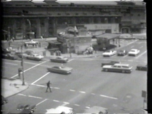 """Atlantic Avenue Metro Station - Still from video """"Atlantic in Brooklyn,"""" 1971-72. Collection of the artist."""