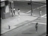 "Prostitutes Working the Corner - Still from video ""Atlantic in Brooklyn,"" 1971-72. Collection of the artist."