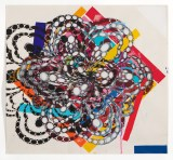 """Reed Anderson - """"Tight Stock,"""" 2011, Acrylic on cut paper, 29 x 27 inches"""