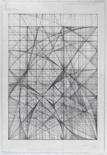 "Mark Reynolds - ""The 1.111 Series Ode to John Cage, 2.13,"" 2013, Graphite on cotton paper, 22 x 15 inches"
