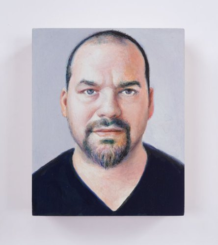 "Jim Torok - ""Ken,"" 2016, Oil on panel, 3.75 x 3 inches"