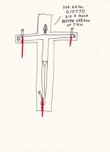 """Jim Torok - """"Giotto,"""" 2013, Ink and colored pencil on paper, 9.75 x 7.5 inches"""