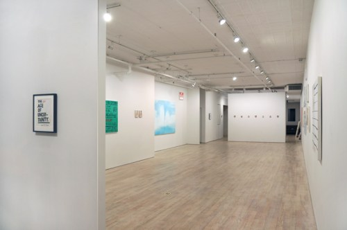 """Jim Torok - """"The New Age Of Uncertainty,"""" Installation View, January 2017"""