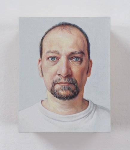 "Jim Torok - ""Self Portrait 2,"" 2003, Oil on polymer resin, 3 3/4 x 3 1/16 inches"