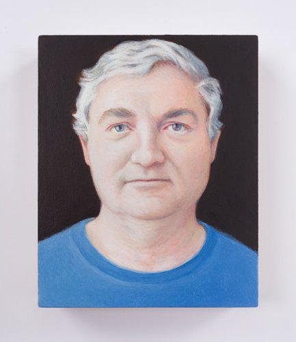 "Jim Torok - ""Walter,"" 2016, Oil on panel, 3.75 x 3 inches"