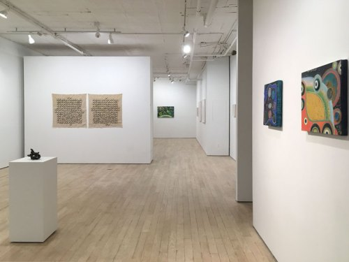 """no title - """"Traces,"""" Installation view at Pierogi. December 2017"""