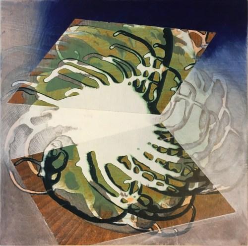 "Sarah Walker - ""Feeler II,"" 2021, Acrylic on panel, 12 x 12 inches"
