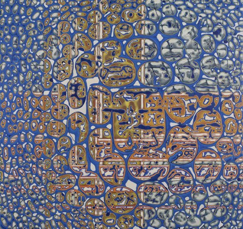 Fragmenta - 2010, Acrylic on Panel, 36 x 38 inches