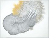 "Daniel Zeller - ""Tscluba,"" 2016, Acrylic and ink on paper, 21 x 27 inches"