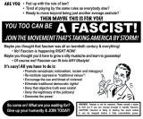 "Perry Hoberman - ""Be a Fascist!"""
