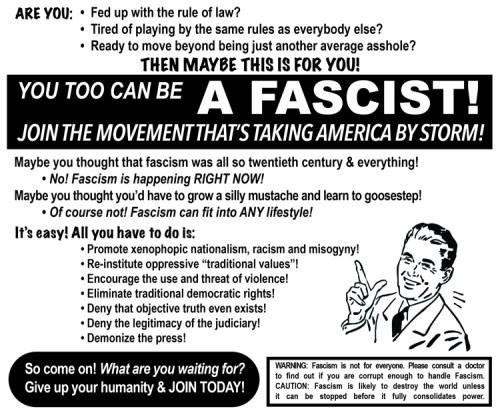 "Perry Hoberman - ""Be a Fascist!"""