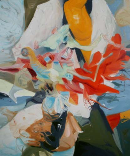 Life In the Folds - 2012, oil on linen, 72 x 60 inches.