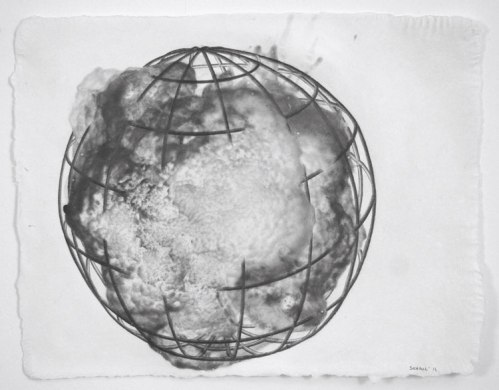 Spherical Cage Series, 2 - 2011, Graphite on paper, 11 1/4 x 14 1/4 inches