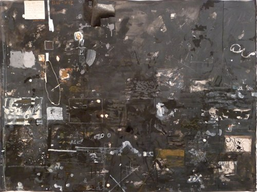 """David Scher - """"Black Dog Plant,"""" 2012, Mixed media on paper, 33 x 44 inches"""