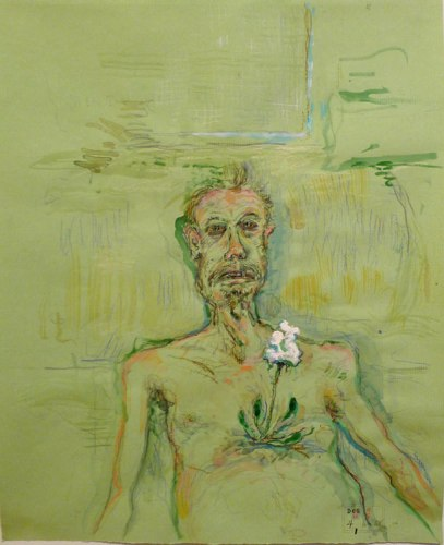 "David Scher - ""In Green,"" 2012, Mixed media on paper"