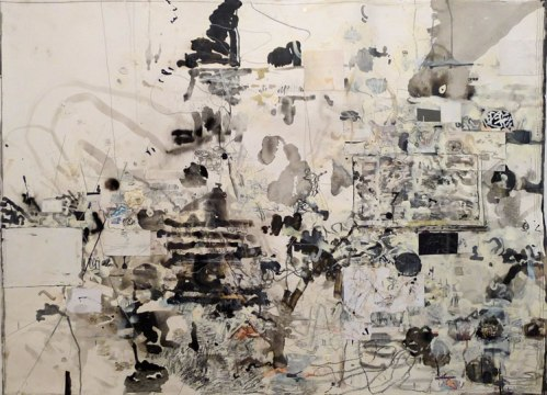 David Scher - Miley's Run, 2012, Mixed media on paper, 33 x 44 inches