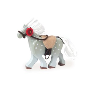 BK836-Grey-Wooden-Horse-Toy-Kids