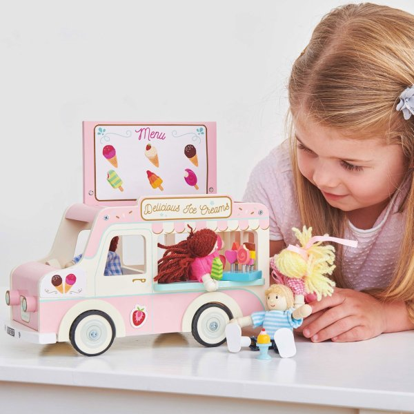 ME083-Ice-Cream-Van-Pink-Doll-House-Wooden-Toy-Girl
