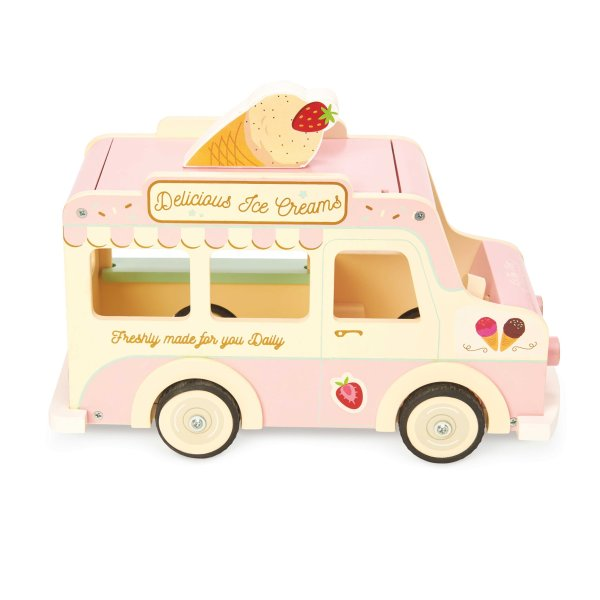 ME083-Ice-Cream-Van-Pink-Doll-House-Wooden-Toy-Side-2