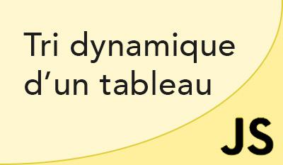 tri javascript dynamique d un tableau