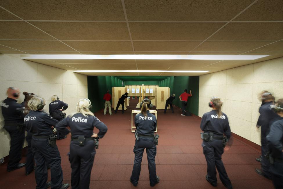 Stand De Tir Pour La Police De Lige Pierre Berger