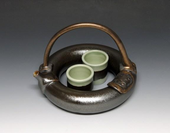 """Ring of Tea"" Porcelain teapot"