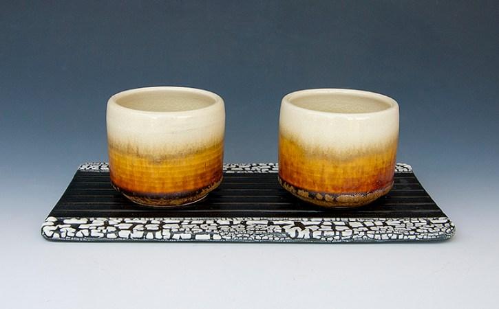 Two cups set Porcelain