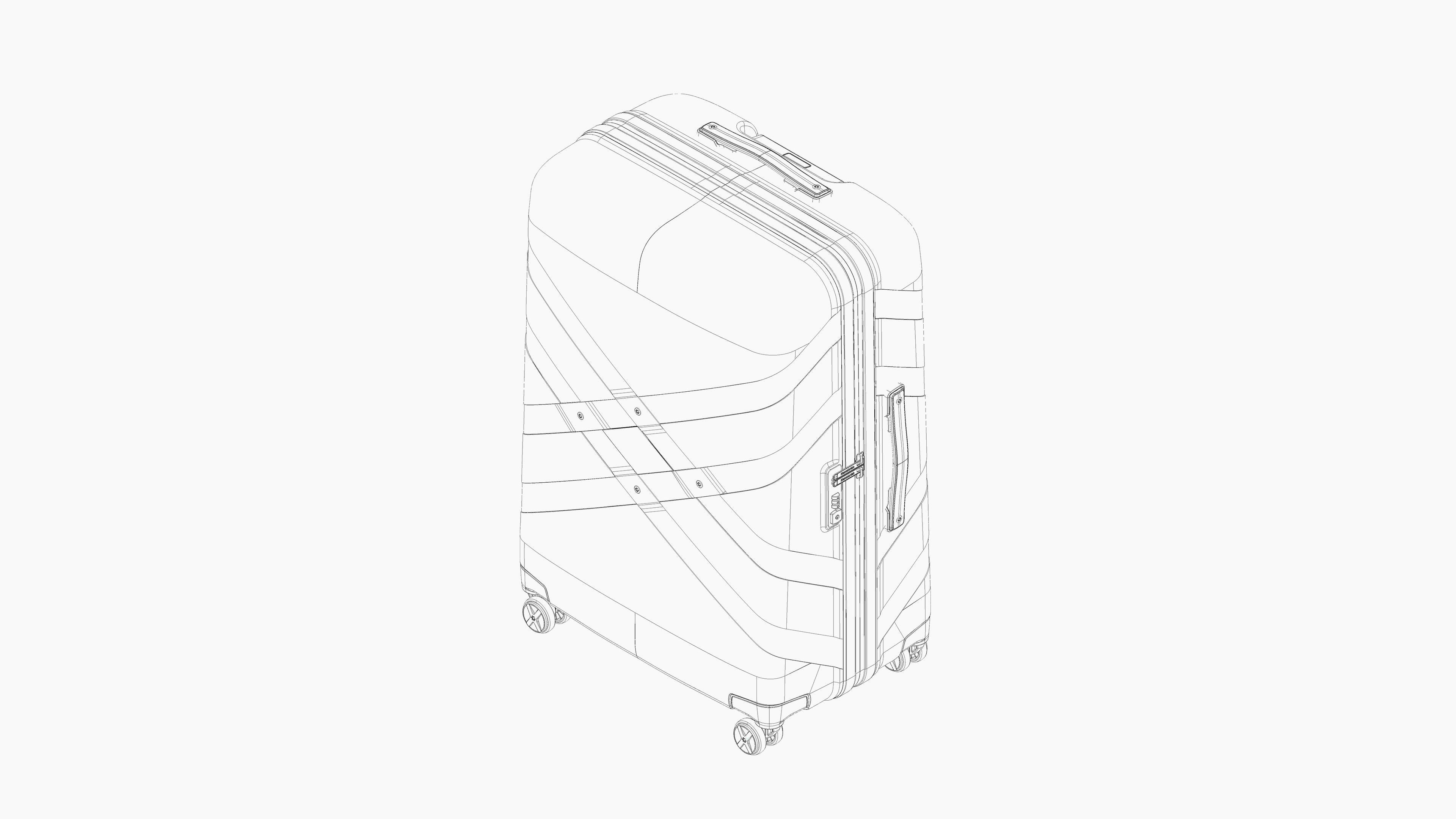 4K Gallery Samsonite 3D Lineart