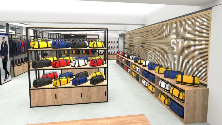 The North Face 2-Buying Space & Brand Wall.5