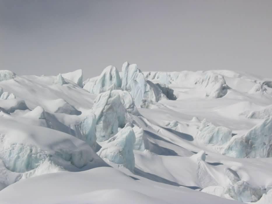 Pics de glace et de neige dans la Vallée Blanche, Alpes, France