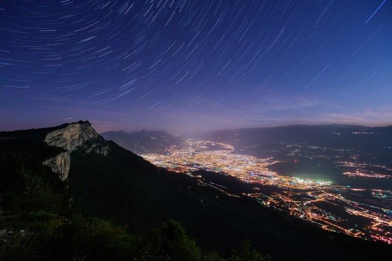 Vue sur Grenoble depuis le Vercors | Paysages nocturnes © Pierre ROLIN - Photographe Nancy - Lorraine / Grand Est