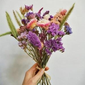 Créations bouquets de fleurs séchées locales à Metz
