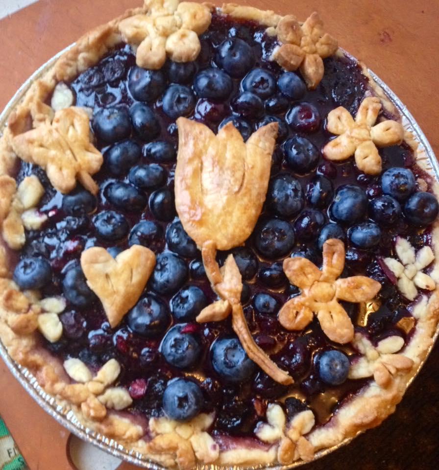 Fresh Blueberry and Cherry Pie