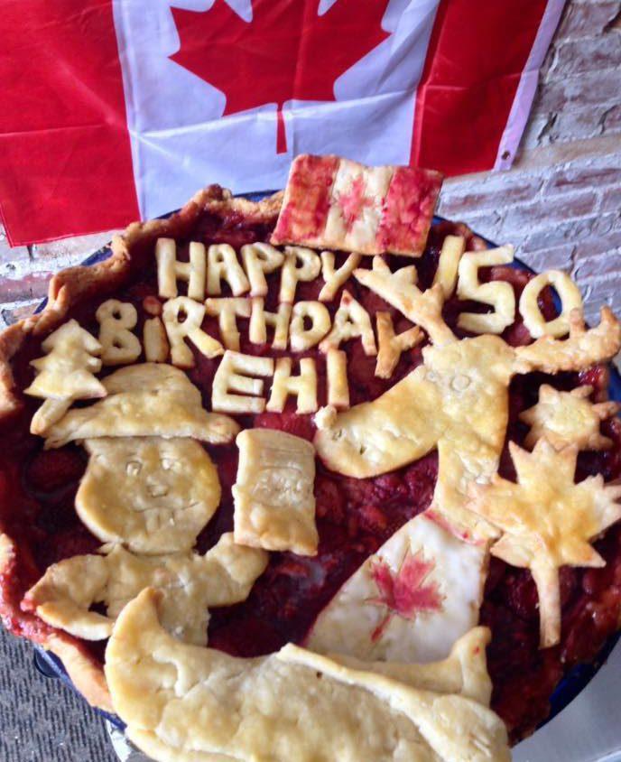 Strawberry Balsamic Canada Day Pie