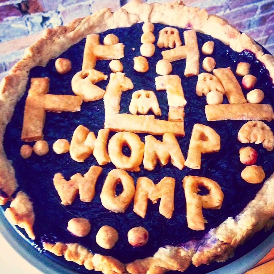 Pac Man Blueberry Pie