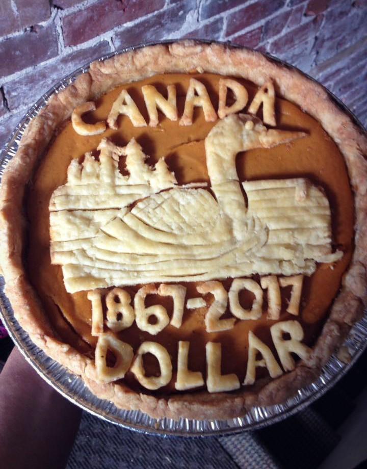 Sweet Potato Canadian Loonie Pie