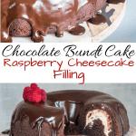 Chocolate Bundt Cake with Raspberry Cheesecake Filling
