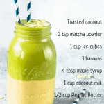 peanut butter matcha smoothie