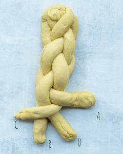 challah braiding bread