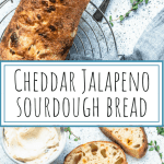Cheddar Jalapeno Sourdough Bread with Roasted garlic spread