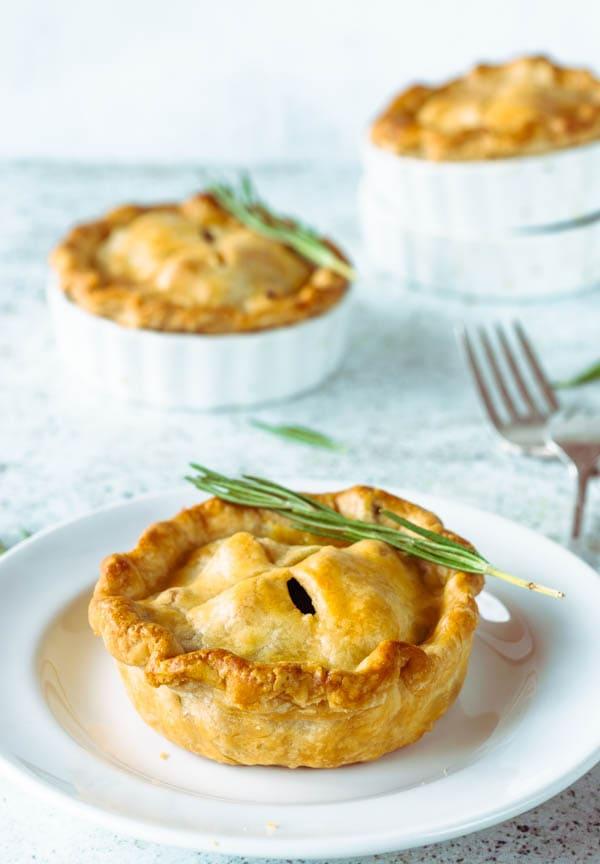 Veggie pot pies vegetarian pies