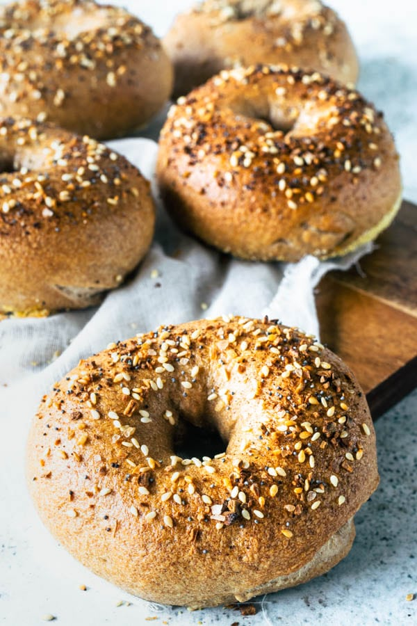 Homemade Sourdough Everything Bagels