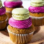 Blueberry Matcha Cupcakes